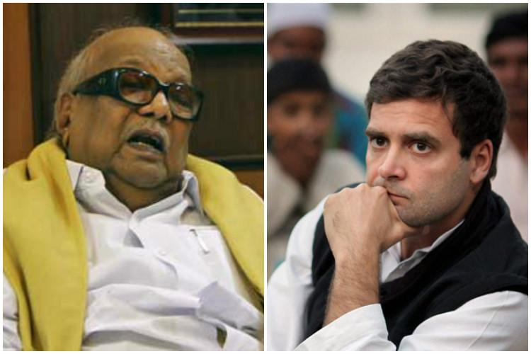 After years of political association Rahul Gandhi visits Karunanidhi for first time as he lies in hospital