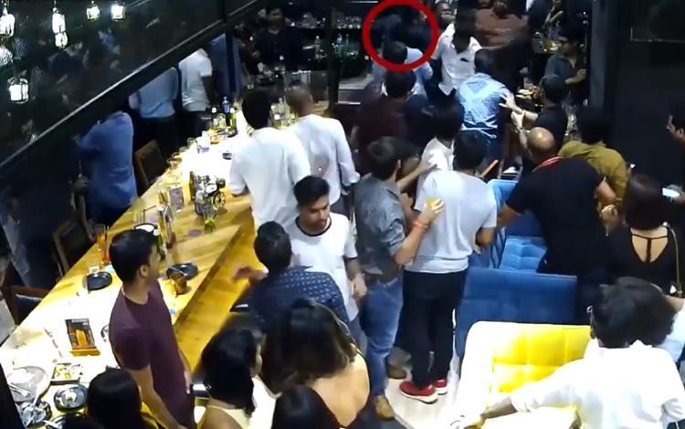 Caught on cam Actor-MLA Karunass associates get into brawl in a Chennai nightclub