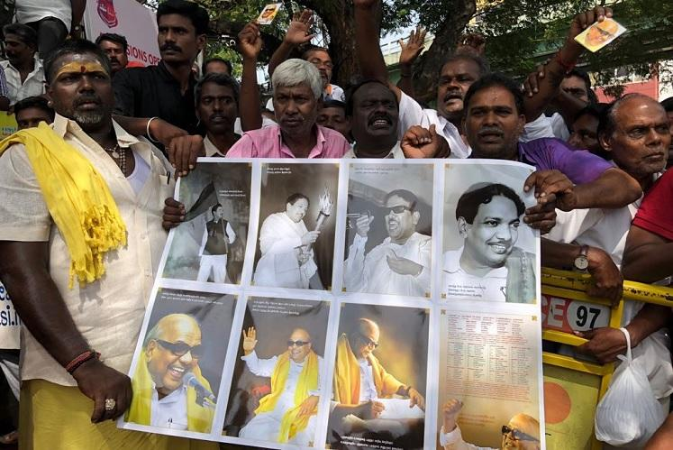 Ground Report Amid sea of emotions Karunanidhi supporters keep hopes up for their leader