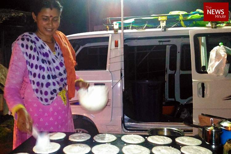 Humble dreams Kerala TV actor runs a food cart to fund her sons hopes of becoming a chef