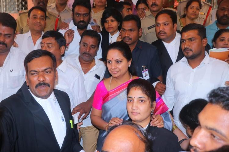 Ex-Nizamabad MP Kavitha appears before Hyderabad court over Telangana agitation case