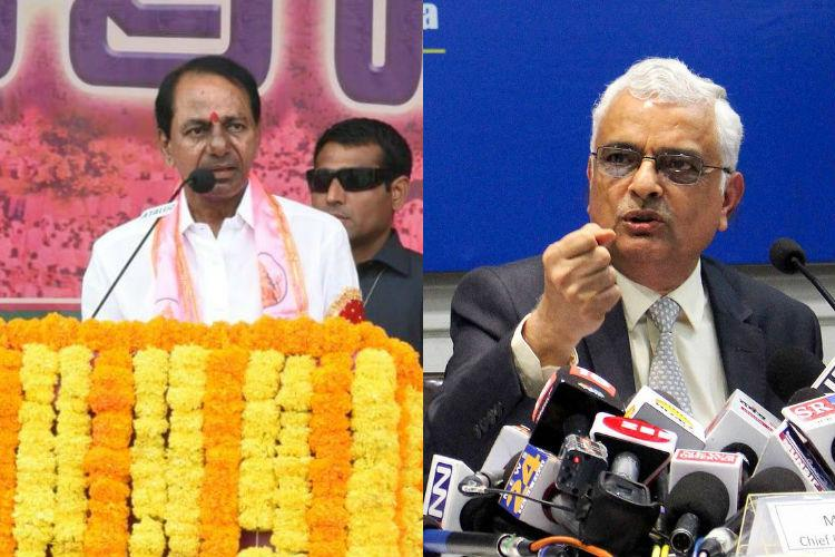 EC announced poll schedule for Telangana along with four other states