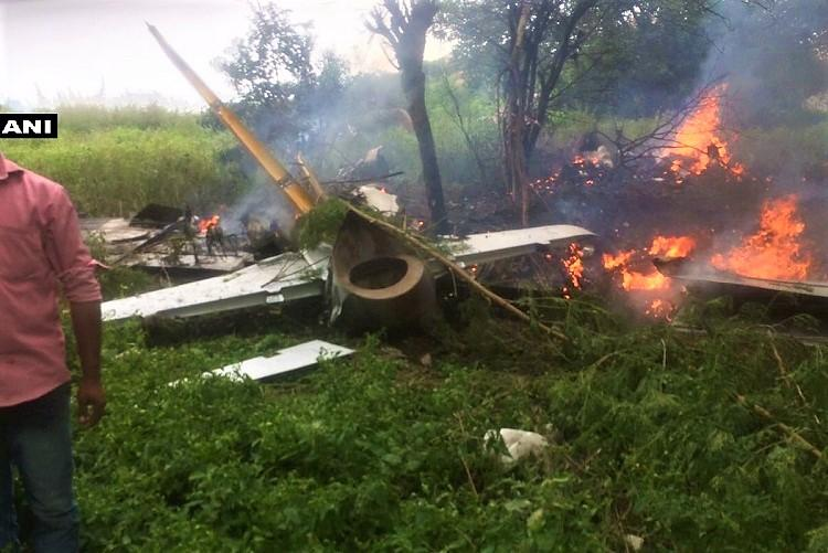 IAF aircraft crashes on the outskirts of Hyderabad no casualties reported