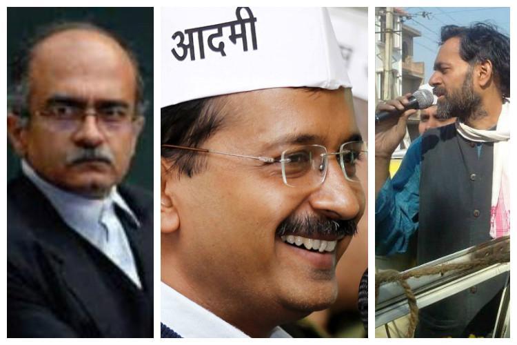 Delhi govt defrauding people says Yogendra Yadav as protests outside assembly increase