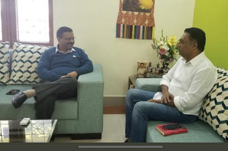 Actor Prakash Raj meets Kejriwal days after announcing he will contest LS polls