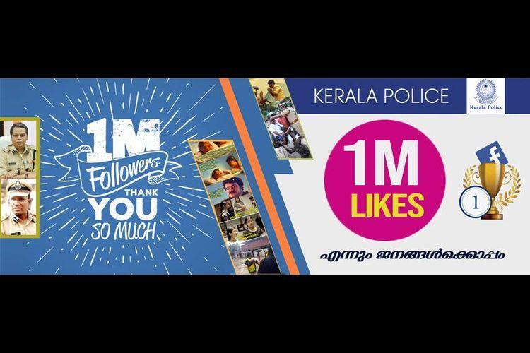 Kerala Police Facebook page reaches one million mark beats others in the country