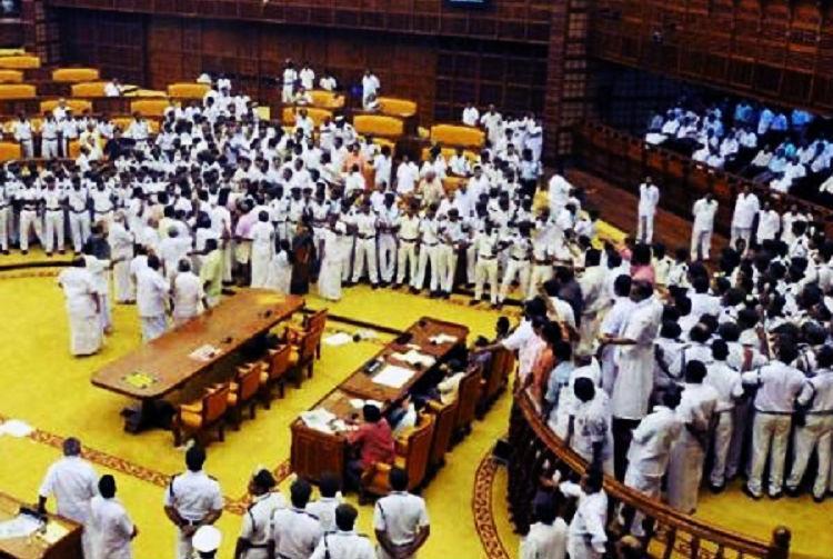 Kerala assembly 2015 ruckus