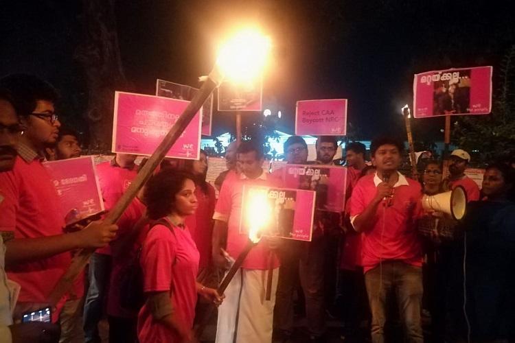 Modi govt trying to destroy higher education Kerala protests against JNU violence