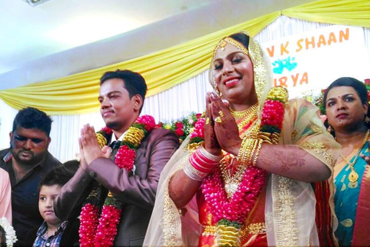 Trans couple gets married in Kerala Moments from Ishan and Suryas grand wedding