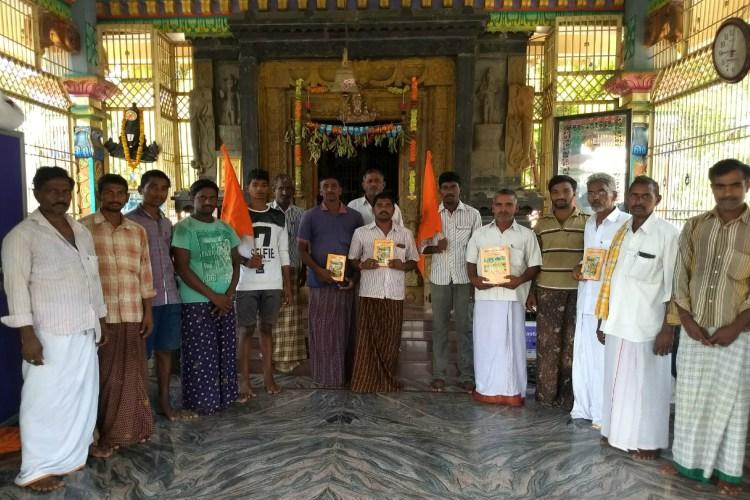 Ground report A Hindus only Andhra village with saffron flags and caution boards