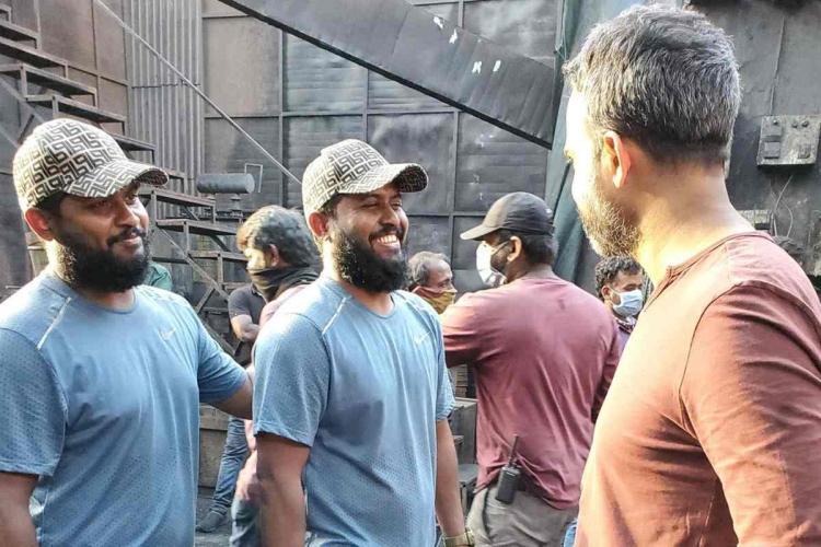 Prashanth Neel and stunt directors of KGF Chapter 2