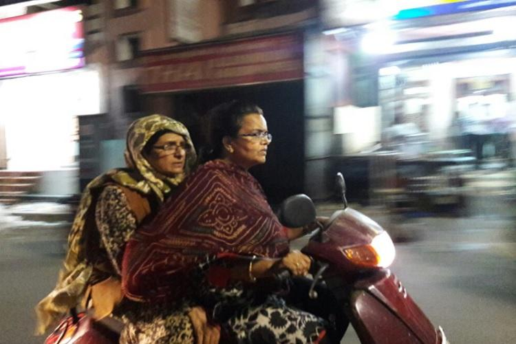 Kiran Bedi goes on late night bike-ride inspection in Puducherry finds no police security