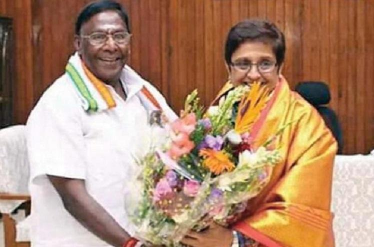 Puducherry power struggle CM Narayansamy accuses LG Kiran Bedi of self-promotion
