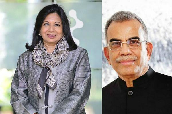In inspiring move Sobha Groups PNC Menon and Kiran Shaw pledge most of their wealth to charity
