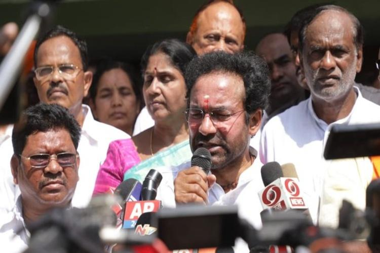 Union MoS Kishan Reddy to donate 3-month salary to Bhainsa violence victims