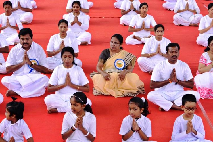 RSS mouthpiece slams Kerala minister Shylaja for objecting to prayer during Yoga session
