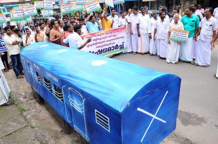 Protests in Kerala over govts move to shift Palakkad railway coach factory to Haryana