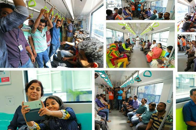 On first day of public rides on Kochi Metro 90000 passengers board the train