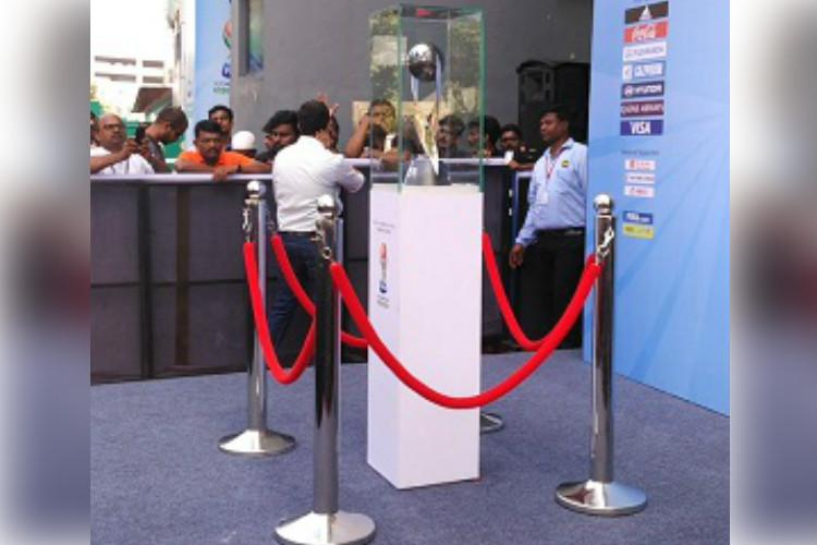 FIFA U-17 World Cup trophy unveiled in Kochi as city gears up to host opening match