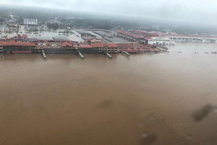 Completely submerged Kochi Airport to remain shut till Aug 26