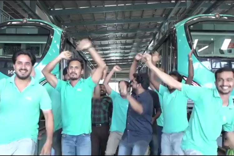 Watch Kochi Metro staff shake a leg in this fun New Year video