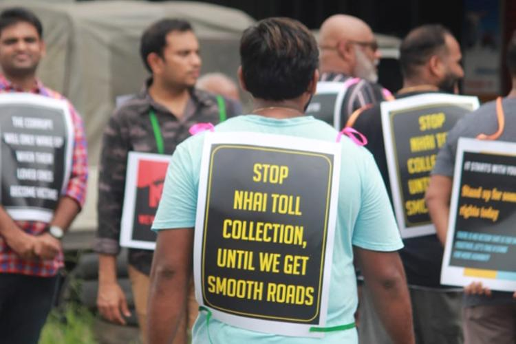 Stop toll collection till we have good roads Kochi residents protest