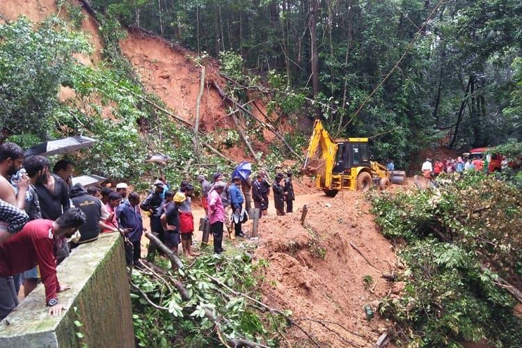 Image result for latest images of Relief works intensified in Karnataka's Kodagu