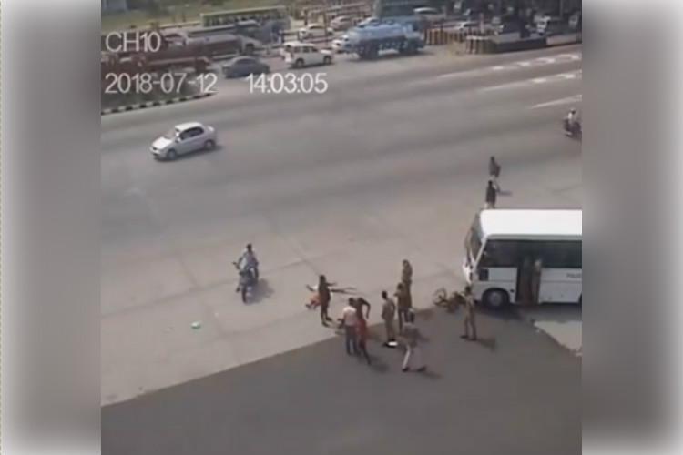Man killed as speeding police van hits two-wheeler near Coimbatore wife critical
