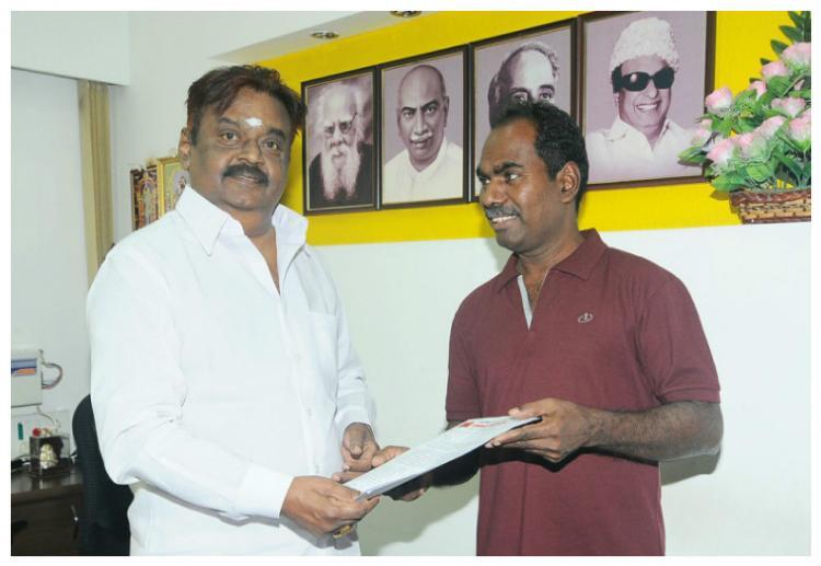 Kovan meets DMDK leader Vijayakanth asks him to join anti-liquor campaign