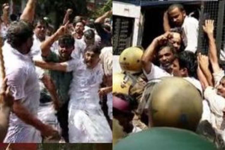 Lathi charge at anti-CAA protest in Kozhikode by Congress