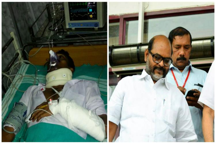 Male nurse in ICU after former CPIM MP and cronies assault him for telling MP to wait