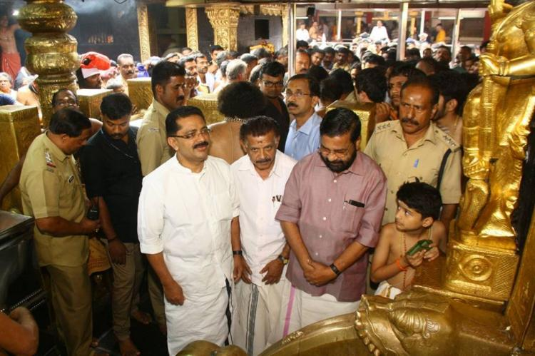 Kerala Wakf Minister KT Jaleel visits Sabarimala temple creates history