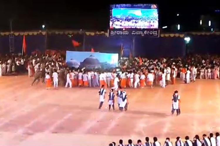 Karnataka school run by RSS leader makes kids demolish Babri Masjid in a play