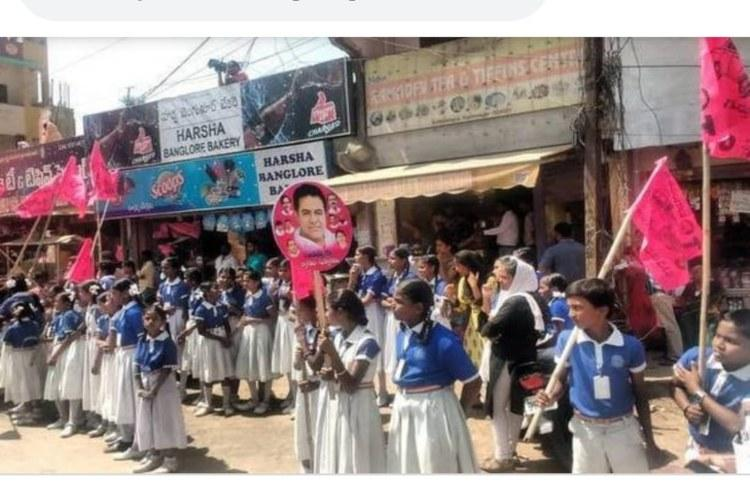 Telangana school booked for forcing children to stand under sun during KTR campaign