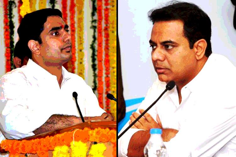 KTR predicts certain defeat for Naidu and YSRCP victory in AP Nara Lokesh hits back