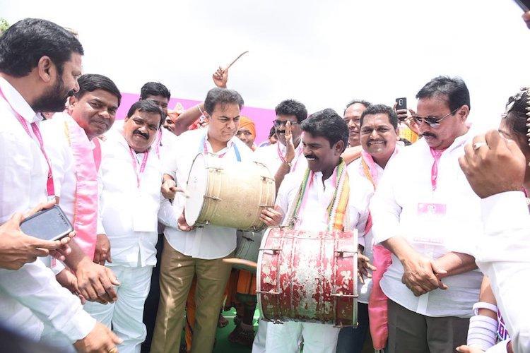 Ground report Lakhs gather for KCRs Pragathi Nivedana rally outside Hyderabad