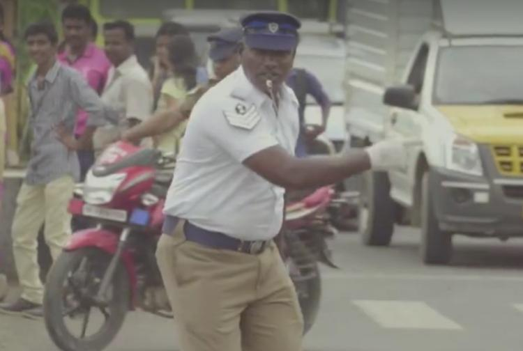 Watch This Chennai cop has a perfect record and better moves than Prabhu Deva