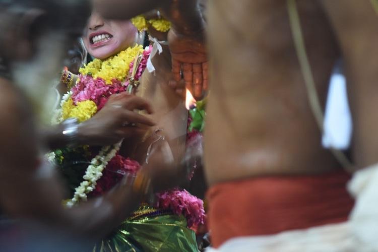 Keralas torso piercing ritual Its choice says mom must draw a line say activists