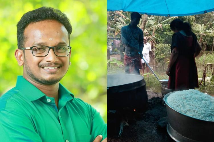 Kerala flood heroes Kuttanad youth converts wedding venue into relief camp