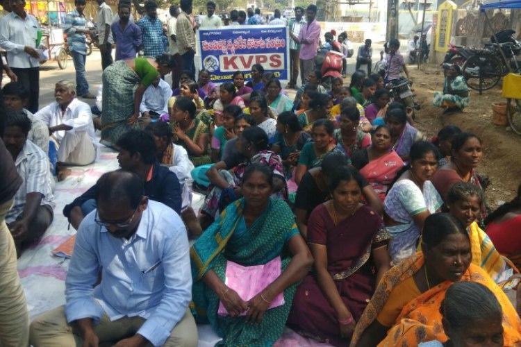 Andhra caste violence No relief after 8 months Garagaparru Dalits protest