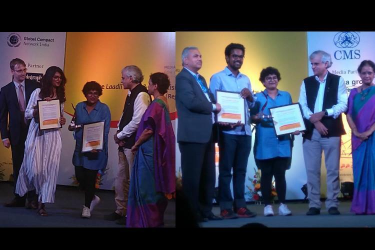 TNMs Theja Ram Nitin Bhaskaran and Ragamalika Karthikeyan win Laadli Media Awards