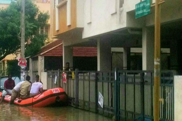 As rain plays havoc boats out in Bengaluru to rescue stranded