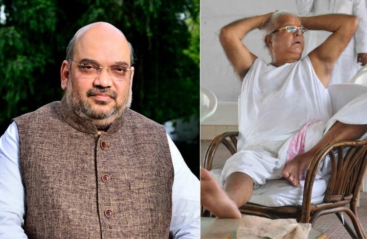 Video Lalu says mota aadmi should not enter elevator after Amit Shah gets stuck in one