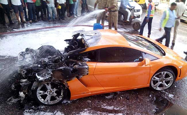 What was left of the Lamborghini Gallardo