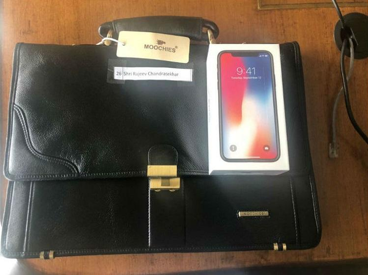 Ktaka govt gifts iPhones leather bags to MPs Rajeev Chandrasekhar slams HDK