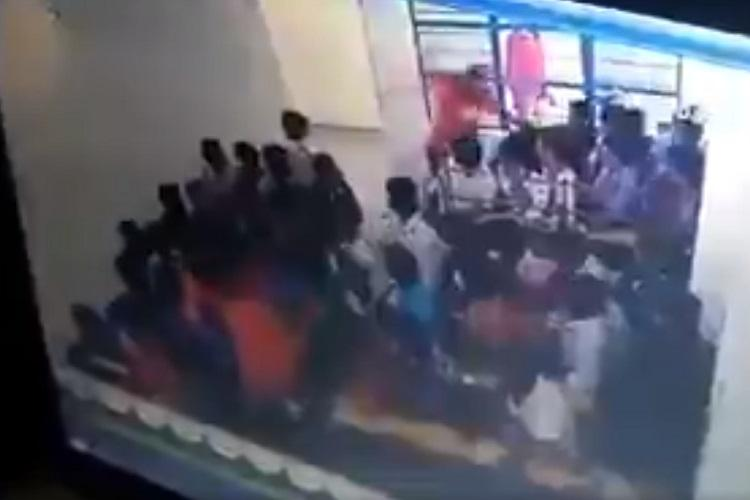 Lecturer in Telangana caught on camera attacking Intermediate student