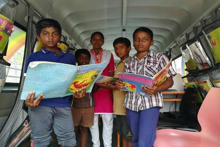 Books on wheels How mobile libraries are helping underprivileged kids in Chennai