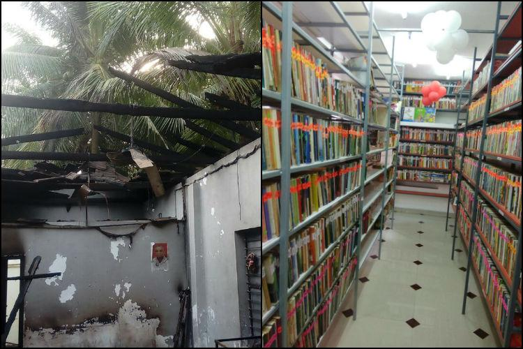Book by book brick by brick Kerala library burnt allegedly by RSS workers rebuilt
