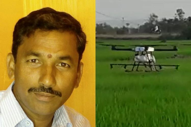 Telangana farmers use of drone technology for cultivation turns him into sensation