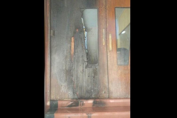 Ktaka Lokayukta office door set ablaze police suspect attempt to destroy files